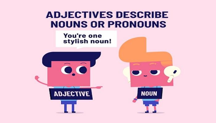 Adjectives describe nouns or pronouns